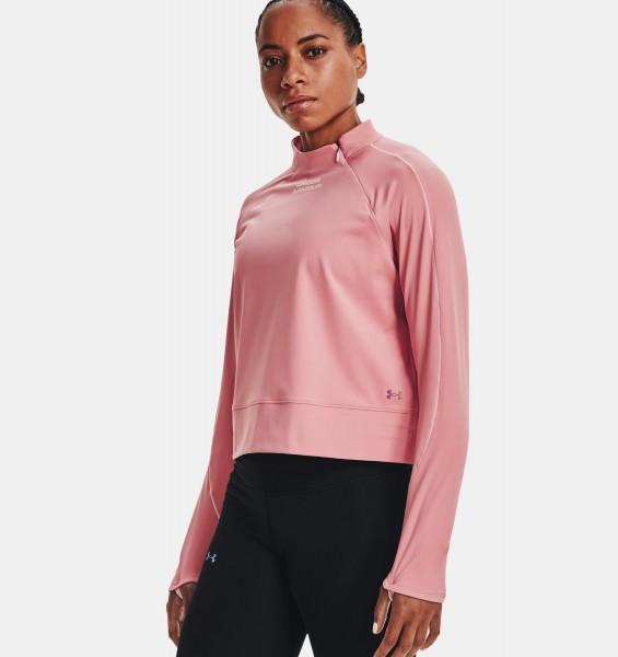 UNDER ARMOUR - RUSH COLDGEAR hardlooptop dames - roze