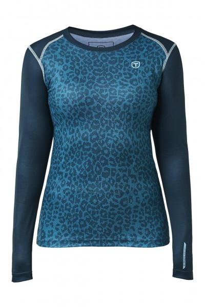 TENSON - BROOKE thermoshirt+broek women - blauw