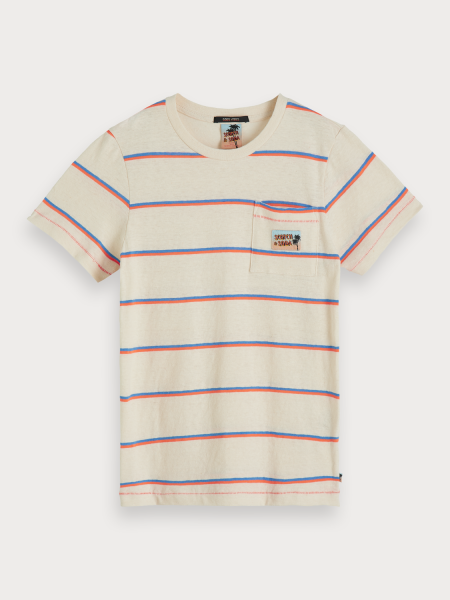 SCOTCH & SODA - STRIPE T-shirt - beige - Haarlem