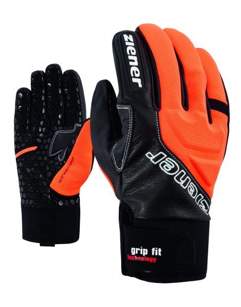 ZIENER - GRIZZLY GWS handschoen - zwart/oranje