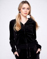 JUICY COUTURE - ROBERTSON CLASSIC VELOUR vest - zwart