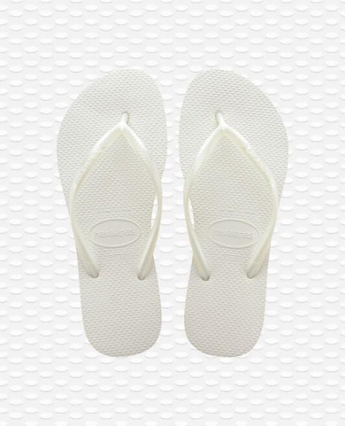 HAVAIANAS - SLIM slippers - wit - Haarlem
