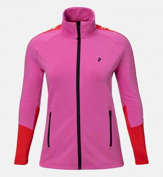 PEAK PERFORMANCE - STRETCH RIDER ZIP-UP vest - roze