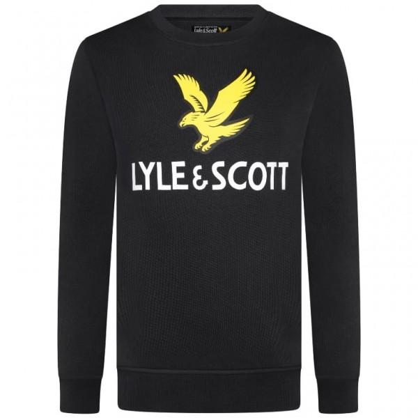 LYLE & SCOTT - EAGLE LOGO CREW SWEAT boys - zwart