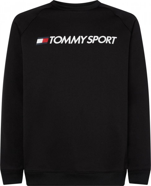 TOMMY - FLEECE LOGO CREW trui - zwart