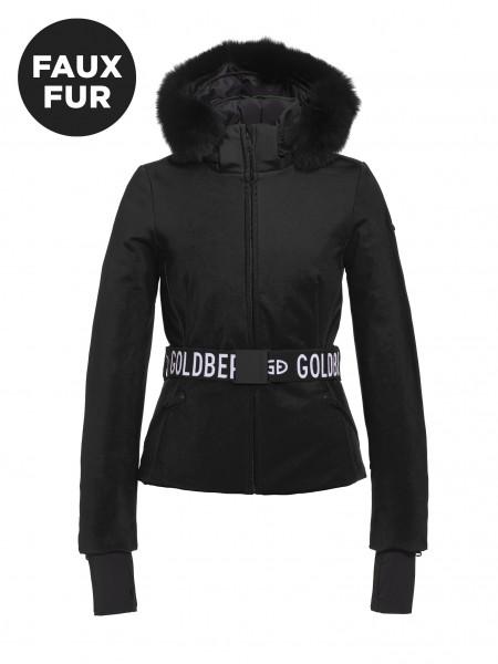 GOLDBERGH - HIDA FAUX FUR ski jas women - zwart