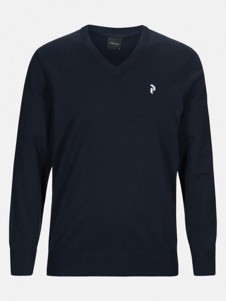PEAK PERFORMANCE - CLASSIC V-NECK trui men - donkerblauw