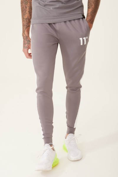 11 DEGREES - POLY PANEL Track Pants men - grijs/wit