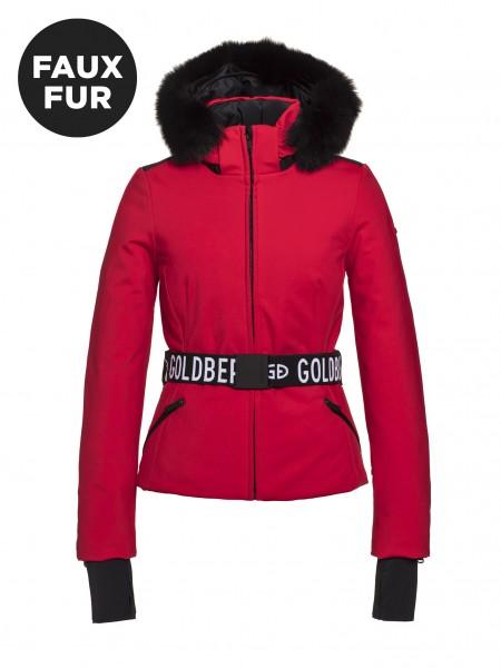 GOLDBERGH - HIDA FAUX FUR ski jas women - rood