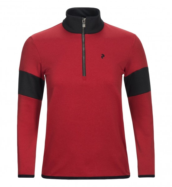 PEAK PERFORMANCE - BRECK HALF-ZIP pully - bordeaux