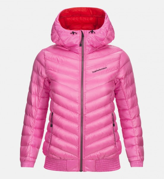 PEAK PERFORMANCE - DUCK DOWN HOODED ICE jas - roze