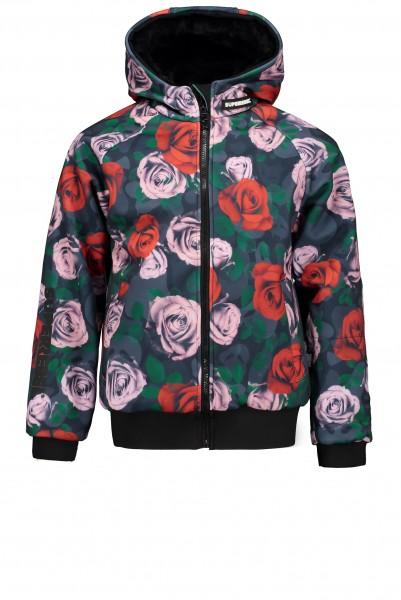 SUPERREBEL - SOFTSHELL ski jas - bloemenprint