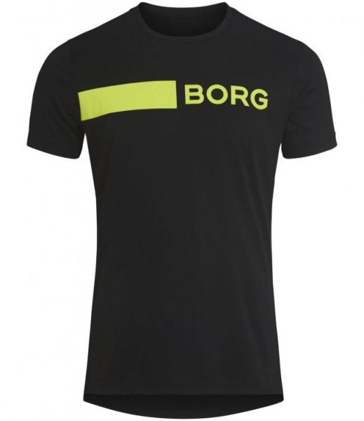 BJORN BORG - ASTOR T-shirt - zwart/geel