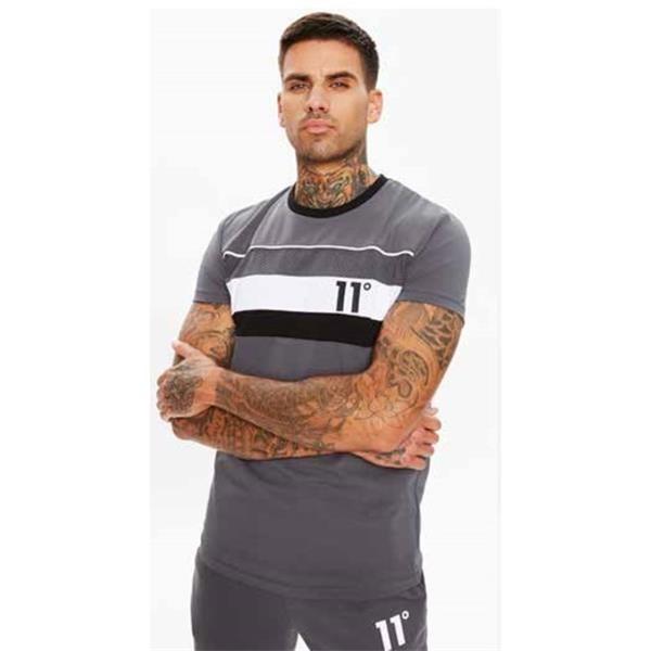 11 DEGREES - MERCURY MESH t-shirt men - grijs