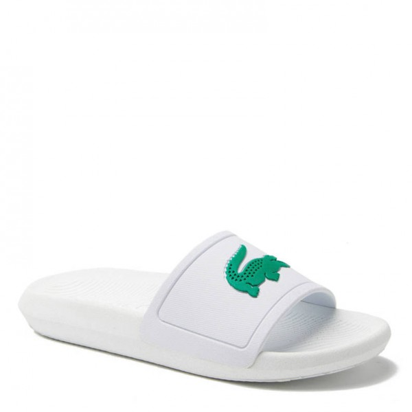 LACOSTE - CROCO slippers - wit