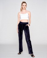 JUICY COUTURE - DEL RAY CLASSIC VELOUR broek - donkerblauw