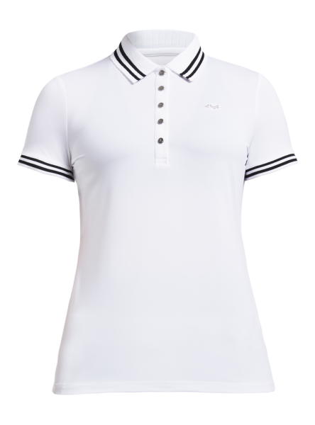 ROHNISCH - STRIPE polo - wit