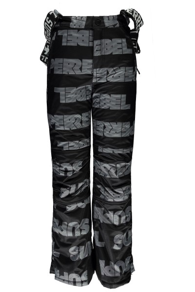 SUPER REBEL - ALL OVER ski-broek - zwart