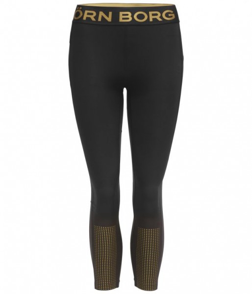 BJORN BORG - MEDAL 7/8 tights - zwart goud
