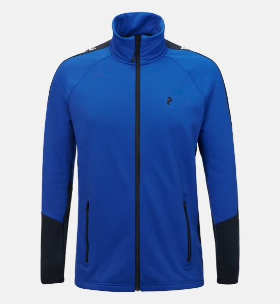 PEAK PERFORMANCE - STRETCH RIDER ZIP-UP vest - blauw