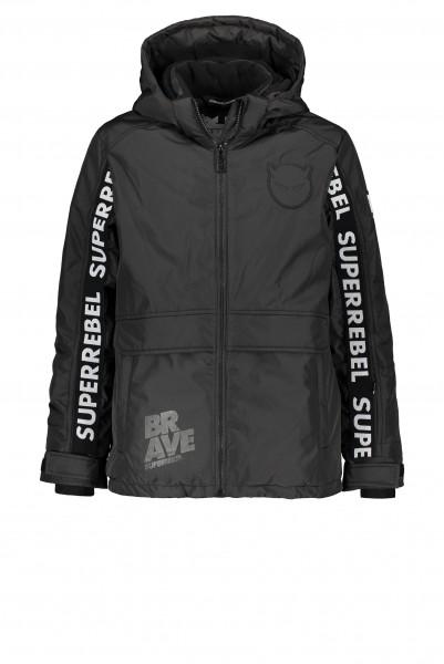 SUPERREBEL - SKI FASHION jas boys - zwart
