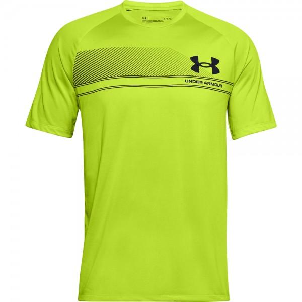 UNDER ARMOUR - LOGO WORDMARK TECH t-shirt men - geel