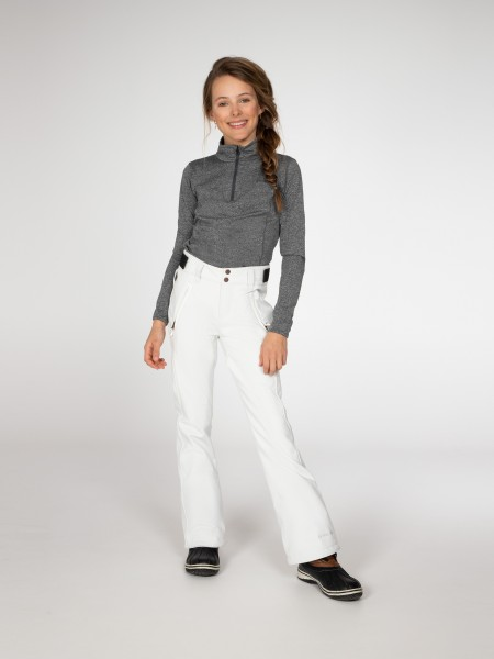 PROTEST - LOLE JR SOFTSHELL SNOWPANTS - wit