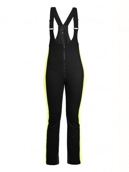 SALOPET skibroek - zwart-neon geel
