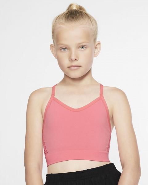 NIKE - DRI-FIT sport-bh meisjes - roze