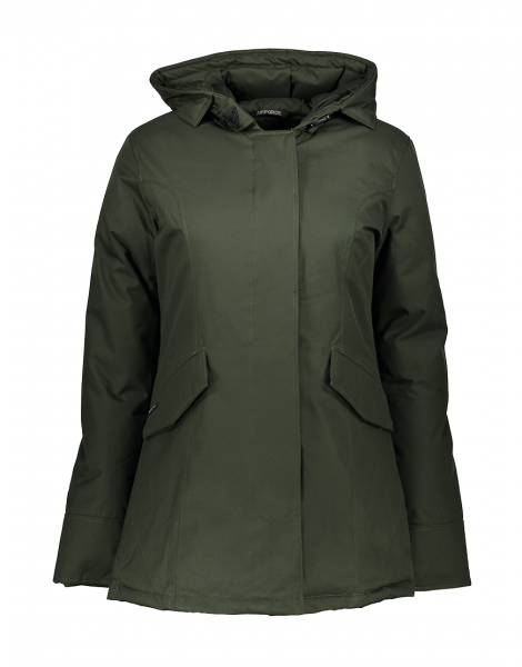 2 POCKET HERRINGBONE jas - donker groen