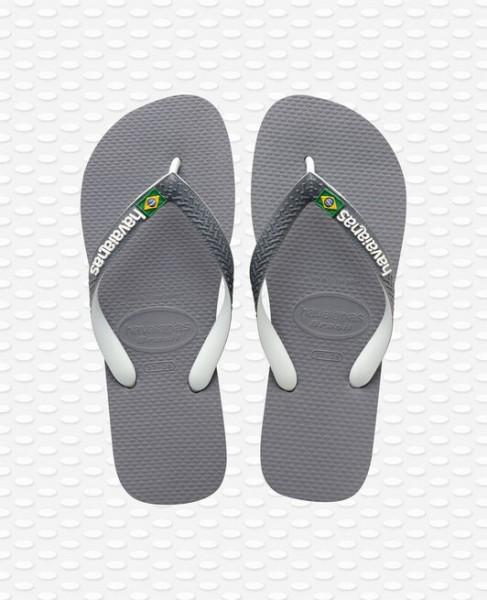 HAVAIANAS Heren slippers - Brazil Mix grijs